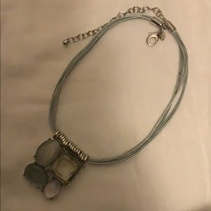 Chico's Brand Necklace, Color Silver and Gray